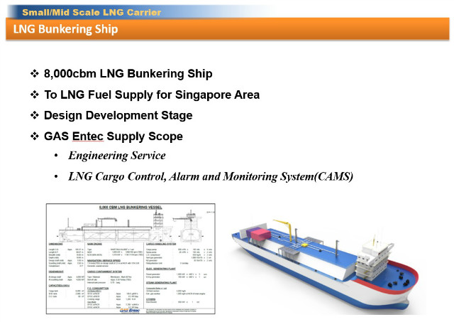 Small/Mid Scale LNG Carrier > LNG Bunkering Ship > LNG